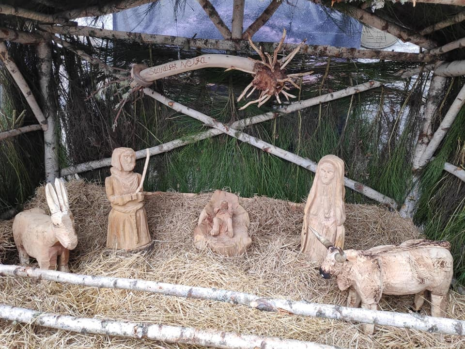 Imaxe da decoración do Nadal do concello de A Veiga