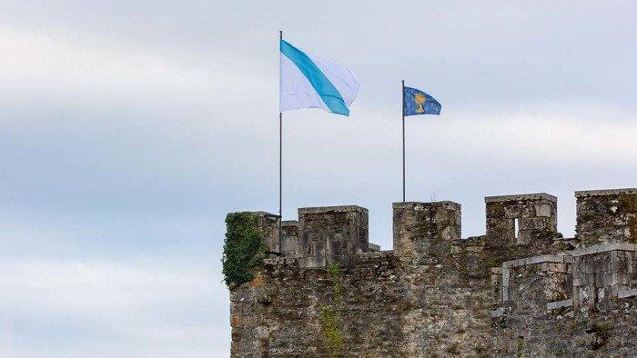 Bandeira de Galicia. Bandeira do reino de galicia